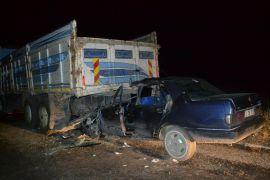 Şuhut'ta trafik kazası: 1 ölü 1 yaralı