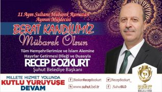 Başkan Bozkurt'tan Berat Kandili Mesajı