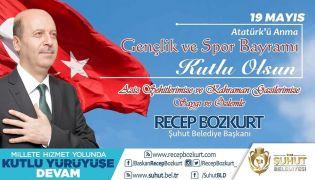 Başkan Bozkurt'un 19 Mayıs kutlama mesajı