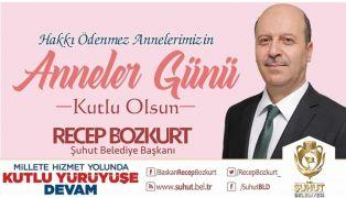 Başkan Bozkurt'un Anneler Günü mesajı