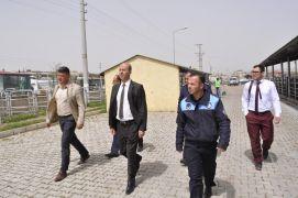 Başkan Bozkurt Canlı Hayvan Borsasında incelemelerde bulundu