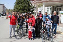 Şuhut'ta şehit piyade er Mesut Akpınar anısına bisiklet turu