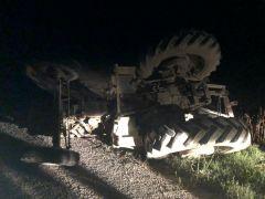 Şuhut'ta otomobil ile traktör çarpıştı: 7 Yaralı