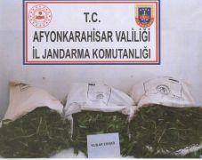 Afyon'da 17 kilo 100 gram kubar esrar ele geçirildi