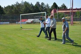 Başkan Bozkurt  İlçe Şehir Stadyumunda incelemelerde bulundu