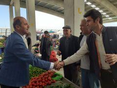 Başkan Bozkurt'tan Kapalı Pazar Yeri esnaflarına ziyaret