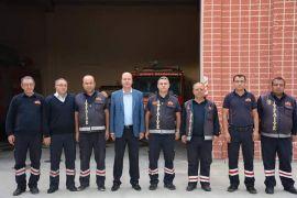 Başkan Bozkurt'tan Şuhut İtfaiye Amirliğine ziyaret