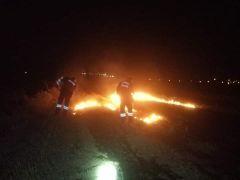 Şuhut'ta anız yangını