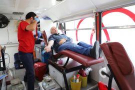 Afyonkarahisar'da kan bağışına yoğun ilgi
