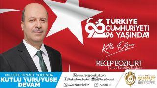 Başkan Bozkurt'un Cumhuriyet Bayramı mesajı