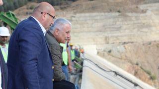 DSİ Genel Müdürü Aydın, Çay Barajı'nda incelemelerde bulundu