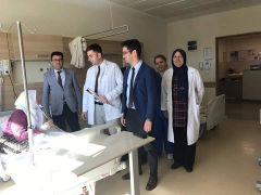 Şuhut Devlet Hastanesi'nde yaşlılara gül verildi