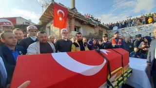 Barış Pınarı şehidi memleketinde son yolculuğuna uğurlandı