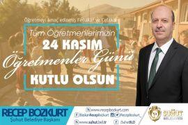 Başkan Recep Bozkurt'tan '24 Kasım Öğretmenler Günü' mesajı
