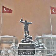 Afyonkarahisar'da kar yağışı sonrası kartpostallık görüntü