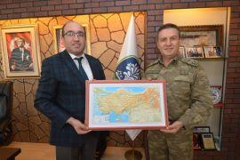 Afyonkarahisar Garnizon Komutanı Tuğgeneral Osman Alp'den Başkan Mustafa Çöl'e ziyaret