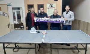 Amatör spor kulübünden köy okulu öğrencilerine masa tenisi