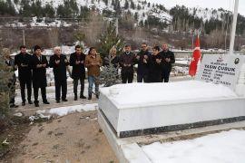 Şehit Yasin Çubuk'un kabrine ve ailesine ziyaret