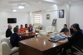 Yabancı uyruklu öğrencilerden İl Milli Eğitim Müdürü Yalçın'a ziyaret
