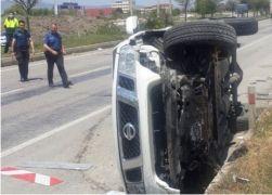 Afyonkarahisar İl Genel Meclisi üyesi ve İl Özel İdaresi Yol Müdürü trafik kazası yaptı