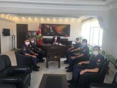 Jandarma Komutanı Sökmen'den Kaymakam Öztürk'e ziyaret