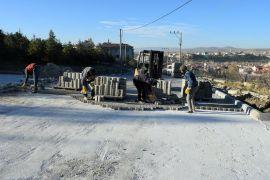 İscehisar'da yol yapım çalışmaları sürüyor