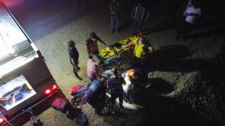 100 metrelik uçuruma düşen otomobildeki gencin cansız bedeni 2 saatlik çalışma ile çıkartıldı