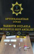 Dinar'da polisten uyuşturucu operasyonu