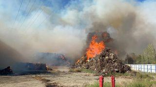 Enerji santralinde yangın çıkan yangında sabotaj iddiası