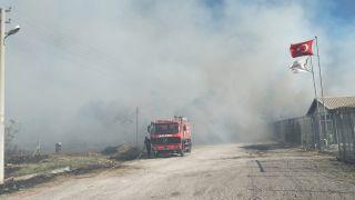 Kalorifer yakıtı üretilen tesiste yangın çıktı