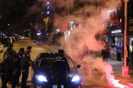 Polis şampiyonluk kutlamasına engel olmak için yoğun çaba gösterdi