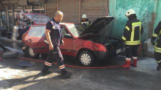 Seyir halindeki LPG'li araç bir anda alev aldı