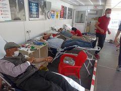 Şuhut'ta kan bağışı kampanyasına yoğun ilgi
