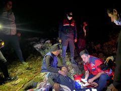Yaylada ayağı kırılan çoban için kurtarma ekipleri seferber oldu